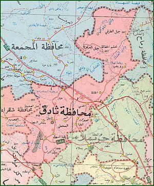 Al Bir - Map illustrates Thadig region and shows Al bir location