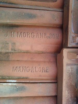 Mangalore tiles - Image: Thayyil Tharavadu roof tile manufactured by J. H. Morgan & Sons Mangalore 1868