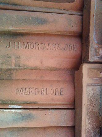 Mangalore tiles - Image: Thayyil Tharavadu roof tile manufactured by J. H. Morgan & Sons Mangalore 1868
