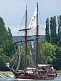 The Atyla on the last day of the Rouen Armada 2019, on the River Seine from Rouen to Le Havre ... (48091328458).jpg