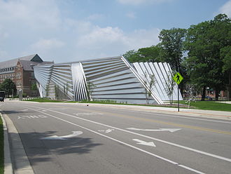 Eli Broad - The Eli and Edythe Broad Art Museum at 547 East Circle Drive, Michigan State University, East Lansing, Michigan USA