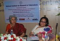 """The Chairperson, National Commission for Women, Mrs. Lalitha Kumaramangalam at a Symposium on """"Impact of Tuberculosis on Women and Children"""" to commemorate the World TB Day, at the National Institute for Research.jpg"""