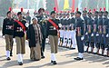 The Chief Minister of Delhi, Smt. Sheila Dikshit inspecting the Guard of Honour, during her visit to DG, NCC Republic Day Parade Camp-2013, in New Delhi on January 08, 2013. The DG, NCC, Lt. Gen. P.S. Bhalla is also seen.jpg