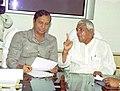 The Chief Minister of Madhya Pradesh, Shri Babu Lal Gaur with the Minister for Shipping, Road Transport & Highways, Shri T.R. Baalu in New Delhi on March 30, 2005.jpg
