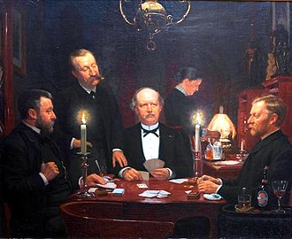 Ombre - Image: The Four Friends Playing Hombre