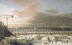 Une nouvelle ère glaciaire débutera en 2014 250px-The_Frozen_Thames_1677