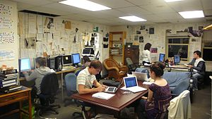 Office the The Hoya student newspaper on the f...