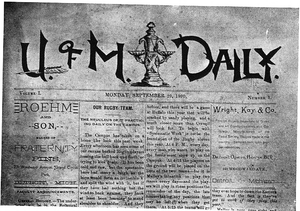 The Michigan Daily - First issue of The Daily in 1890