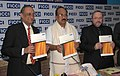 The Minister of State of Agriculture, Consumer Affairs, Food & Public Distribution, Prof. K.V. Thomas releasing the FICCI RocSearch Research-Study of Consumer Care Initiatives in India, in New Delhi on February 25, 2010.jpg