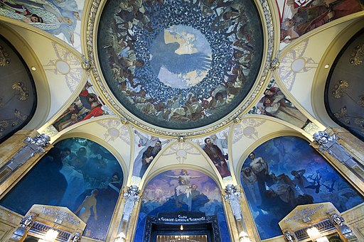 The Municipal House (Obecni Dum) ceiling, Prague - 8906
