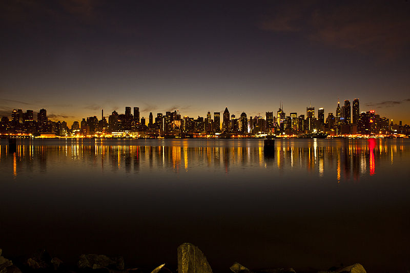 File:The New York City skyline just before sunrise December 17, 2011.jpg