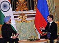 The Prime Minister, Dr. Manmohan Singh meeting the President of the Russian Federation, Mr. Dmitry A. Medvedev, in Moscow, Russia on December 16, 2011 (3).jpg
