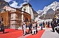The Prime Minister, Shri Narendra Modi at Kedarnath, in Uttarakhand on October 20, 2017. The Governor of Uttarakhand, Dr. K.K. Paul and the Chief Minister of Uttarakhand, Shri Trivendra Singh Rawat are also seen.jpg