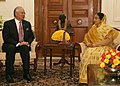 The Prime Minister of Malaysia, Dato' Sri Mohd Najib Tun Abdul Razak meeting the President, Smt. Pratibha Devisingh Patil, in New Delhi on January 20, 2010.jpg