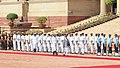 The Prime Minister of Nepal, Mr. K.P. Sharma Oli inspecting the Guard of Honour, at the Ceremonial Reception, at Rashtrapati Bhavan, in New Delhi on April 07, 2018.jpg