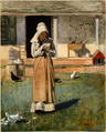The Sick Chicken by Winslow Homer, 1874.png