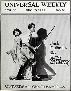 The Social Buccaneer - Universal Weekly advertisement for The Social Buccaneer