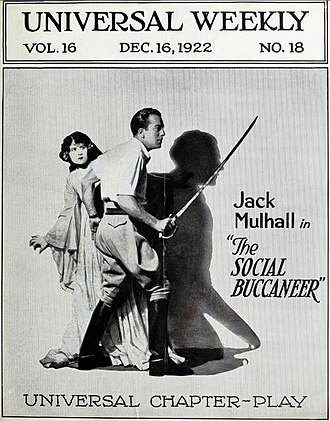 The Social Buccaneer - Universal Weekly advertisement for The Social Buccaneer