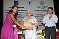 The Union Minister for Culture, Smt. Chandresh Kumari Katoch presented the certificates to Volunteers, at the inauguration of 'Yuva Saathi'- Young Visitor Programme, in New Delhi on August 07, 2013 (2).jpg
