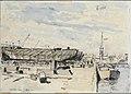 The West India Docks April 1944 (Art.IWM ART LD 4043).jpg