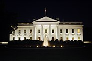 The White House at night, 2011