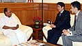 The former Prime Minister of Japan, Mr. Shinzo Abe called on the Defence Minister, Shri A. K. Antony, in New Delhi on September 21, 2011.jpg