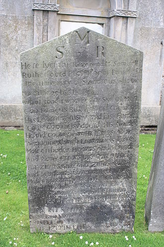 Samuel Rutherford - The grave of Samuel Rutherford, St Andrews Cathedral churchyard