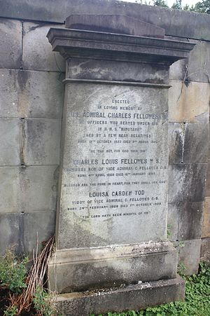 Charles Fellowes - The grave of Vice Admiral Charles Fellowes, Dean Cemetery