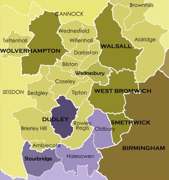 The local government structure within North Worcestershire and South Staffordshire - Prior to the West Midlands Order 1965 reorganisation The local government structure within the Black Country (Pre-1966).png