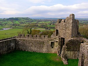 The ruins of Dinefwr Castle overlooking the Tywi Valley - geograph.org.uk - 1563523.jpg