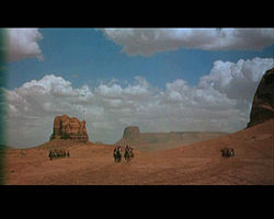 Although the film was set in Texas it was filmed in Monument Valley, Utah.