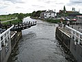 The swing bridge at the top of the Exeter Canal - geograph.org.uk - 1286913.jpg
