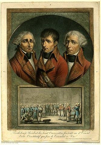 Три консула (Камбасерес, Бонапарт, Лебрен). Ван Горп (1803)