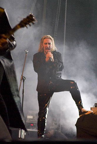 Thomas Vikström - Vikström live with Therion in 2008.