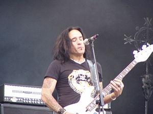 Marco Mendoza - Mendoza onstage with Thin Lizzy