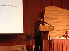 Thio Li-ann at a Human Rights Day seminar, Conrad Centennial Singapore - 20141204-01.jpg