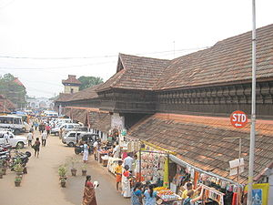 Padmanabhaswamy Temple - The approach road to the Padmanabhaswamy temple