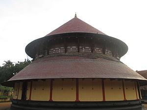Thiruvanvandoor Mahavishnu Temple - Image of the tower over the sanctum sanctorum