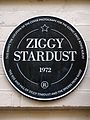 This marks the location of the cover photograph for the iconic David Bowie album 'The Rise and Fall of Ziggy Stardust and the Spiders From Mars'. Ziggy Stardust 1972.jpg