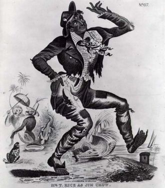 "Thomas D. Rice - Thomas Dartmouth Rice as ""Jim Crow"" 1832"