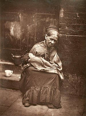 Photojournalism - The Crawlers, London, 1876–1877, a photograph from John Thomson's Street Life in London photo-documentary