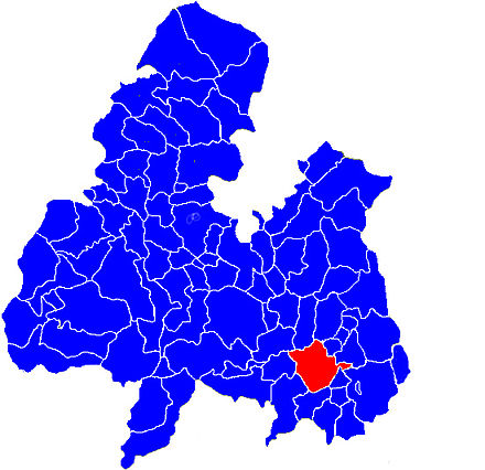 Location of Thurles in the civil parishes of North Tipperary ThurlesCivilParish.jpg