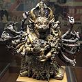 Tibet orientale o mongolia, mahavajrabhairava, guardiano della dottrina (dharmapala), xvi-xvii sec.JPG