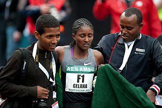 Tiki Gelana Ethiopian long-distance runner