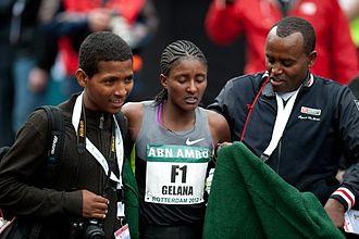 Tiki Gelana - Tiki Gelana at the 2012 Rotterdam Marathon