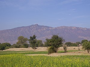 Pind Dadan Khan - Tilla Jogian viewed from Jalalpur Sharif