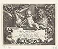 Titelprent met kind tussen getemde leeuw en roofvogel bovenop schild met vers.jpeg