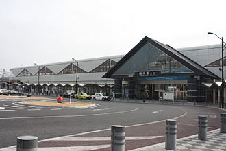 Tochigi Station - Tochigi station north entrance in December 2009