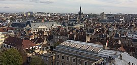 A rooftop view of Dijon, from the Saint Benigne Cathedral