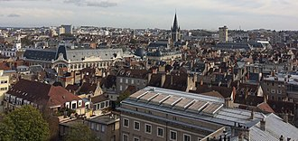 Dijon - A rooftop view of Dijon, from the Saint Benigne Cathedral
